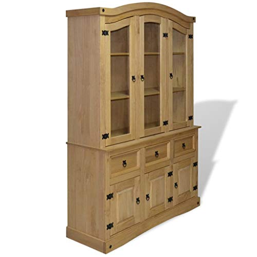 vidaXL Buffet & Hutch Mexican Pine Corona Range Display Cabinet Unit Bookcase