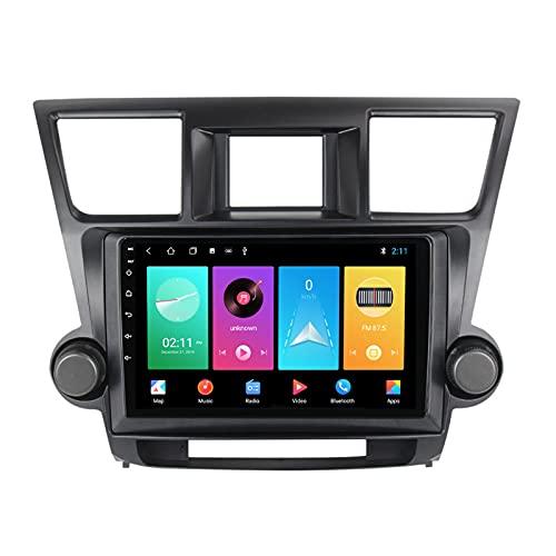 ADMLZQQ para Toyota Highlander 2007-2013 Android 10.0 Car Radio Navegación GPS Android 10.0 Pantalla Táctil 9 Pulgadas, Bluetooth Carplay FM Am DSP Control Volante Cámara Trasera,M100s 4core 1+16g