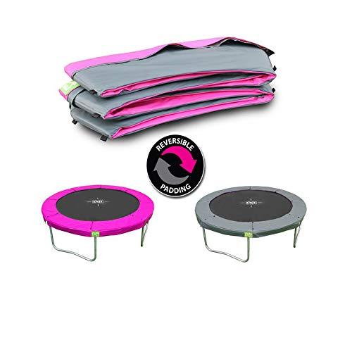 EXIT Schutzrand Twist Trampolin ø305cm - rosa/grau