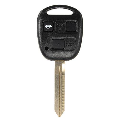GOZAR 3 toetsen afstandsbediening sleuteletui Fob Toy47 voor Toyota Corolla Camry Yaris Hiace Avensis