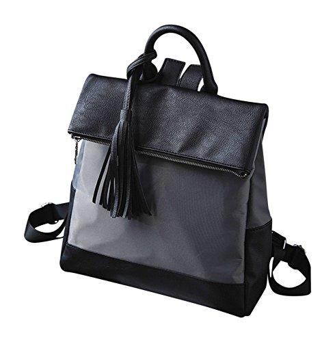 Kronya® | Elegante Handtasche und Rucksack aus Leder | Arbeit Büro Clutch Damen Damenhandtasche Damentasche Henkeltasche Schule Schulrucksack Schultasche Schultertasche Tasche Umhängetasche (Grau)