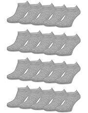 10 | 20 | 30 paar sneaker sokken dames en heren zwart wit grijs katoen - sockenkauf24