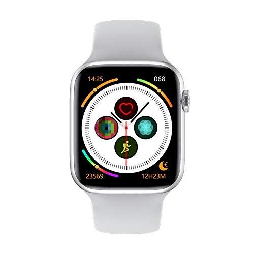 Serie 6 Smart Watch IWO W26 SmartWatch W26 / W26M ECG Temperatura della frequenza cardiaca ECG Impermeabile per Apple Android W26 PRO (Color : White, Size : 44mm W26)