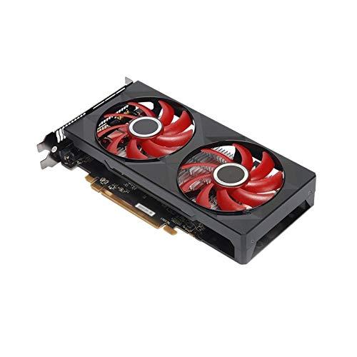 SIJI Ventilador de gráficos Tarjeta De Gráficos Desktop PC Fit For XFX Radeon RX 560 4GB DDR5 Gaming PC Tarjetas De Video GPU 128 bit Computer Gamer AMD Card Gráficos del Juego