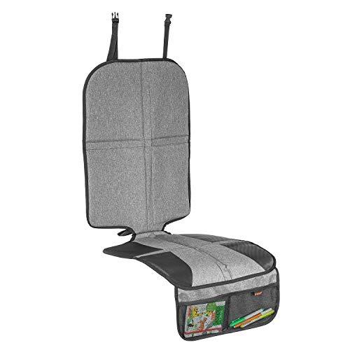 Reer 86071 TravelKid MaxiProtect Tapis de protection pour siège auto avec protection du dossier et protection contre le dossier Compatible ISOFIX Gris
