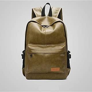 Double-Shoulder Bags Waterproof Dustproof Fashion Leisure Men Backpackage Travel Bag Shoulder Bag (Black) (Color : Green)