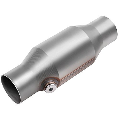 "AUTOSAVER88 ATCC0007 2.5"" Inlet/Outlet Universal Catalytic Converter with O2 Port (EPA Compliant)"