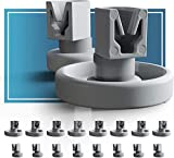 Spülmaschinen Rollen Set für Unterkorb und Oberkorb von Plemont. Universelle Korbrollen für viele gängige Geschirrspüler und Spülmaschine als Ersatzteile und Zubehör. 2 Jahre Geld Zurück