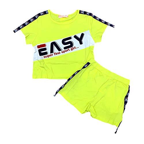 Chaleco deportivo para niñas conjunto de camiseta sin mangas y pantalones cortos...