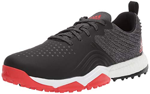 adidas Men's Adipower 4ORGED S Golf Shoe, core Black/red/FTWR White, 7 W...