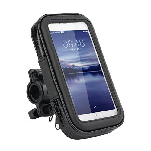 Funda de móvil impermeable de FLy, para dispositivos de hasta 5,5 pulgadas, con pantalla táctil, para bicicleta, con soporte, para iPhone, Samsung, Huawei