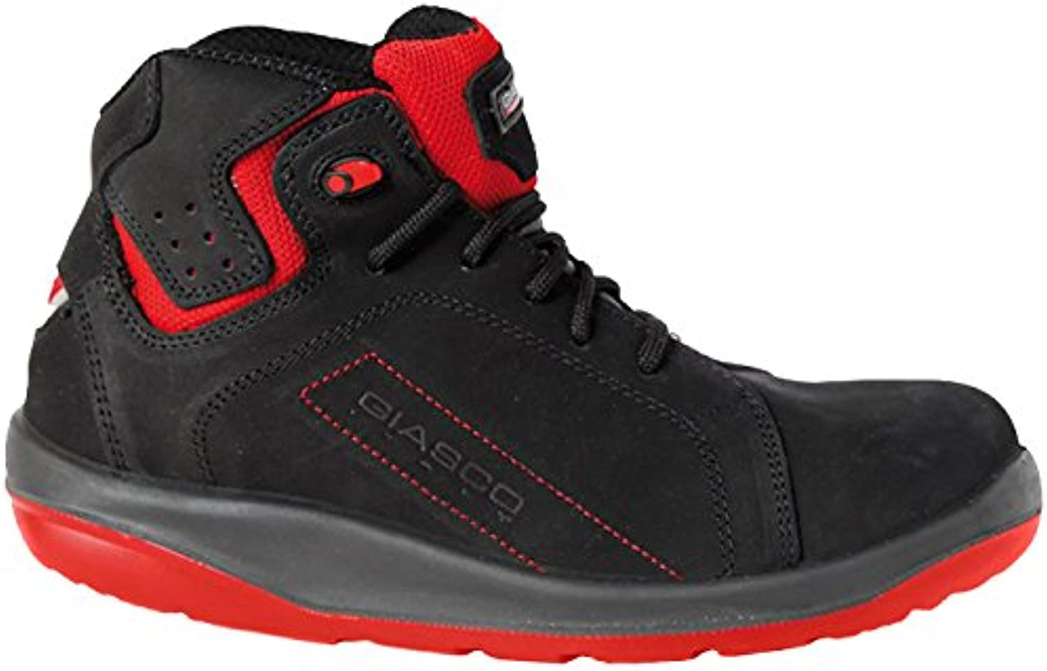 Giasco 73N37C41 Size 41 S3  Gym  Lace Up Boots - Black Red