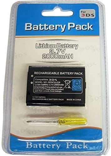 Todobarato24h Bateria Compatible con Nintendo 2DS / New 2DS XL / 3DS / Wii U Pro Controller, CTR-003, CTR-001 2000mAh Pila