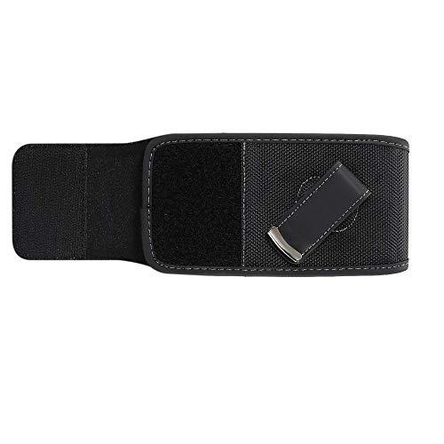 DFV mobile - Funda Nylon para Cinturon con Clip Giratorio para HOMTOM S12 - Negra