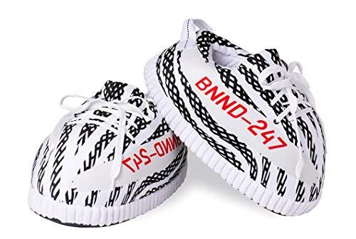 COZY KICKZ - Pantofole stile Sneakers, unisex, comode ed eleganti, perfette per la casa, taglia unica, Nero (Nero ), Taglia unica