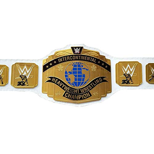 House of Highland 77 Intercontinental Belt Championship Wrestling Leather Volwassene WWE Riemen Wit