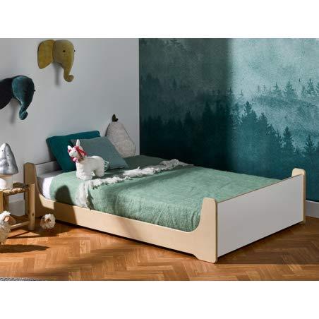 Alfred & Compagnie Montessori - Cama evolutiva (90 x 140 cm), color blanco