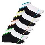 Footstar Herren und Damen Sneaker Socken (8 Paar), Kurze Sportsocken im Neon Erscheinungsbild - Neon Glow - Mix 43-46