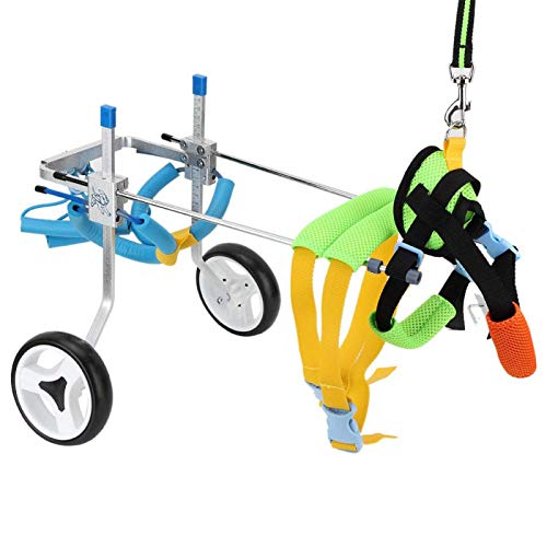Fdit Adjustable Pet Dog Wheelchair Cart Disabled Dog Assisted Walk Car Pet Hind Leg Exercise Car for Hind Legs Rehabilitation Dog Walk (XS)