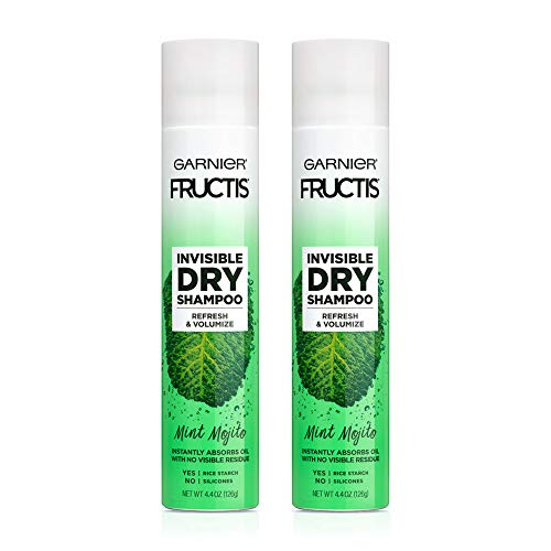Garnier Invisible Dry Shampoo by Fructis, 4.4 oz (Mint Mojito, Pack of 2)