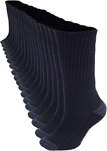 Bolter 18 Pack Men's Crew Socks (13-15, Black)