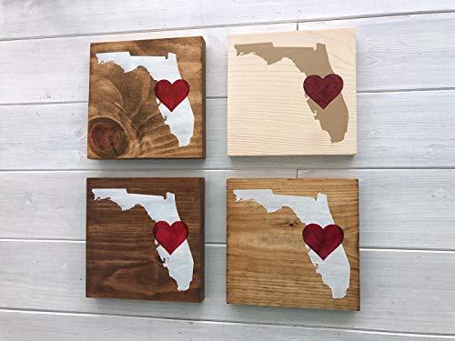 onbekend Wall Art Mini Florida teken | Florida kaart | Florida teken | Boerderij teken | Florida decor | Florida kunst | Florida gift | Bewegende gift | State wall art Wood Plaque, Custom Gift