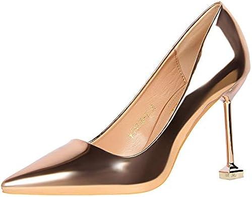 FLYRCX Chaton Sexy Talons Talons Aiguilles Pointues des Femmes avec des Chaussures de Couleur Unie Chaussures de Mariage  détaillants en ligne