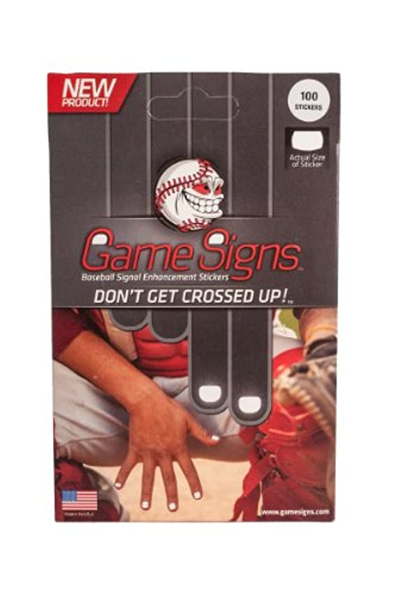Mpowered Baseball Game Signs Catcher's Enhanced Signal Delivery Stickers (Pack of 100)