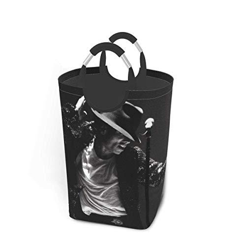 Michael Jackson - Cestas de lavandería con asas plegables, impermeables, duraderas, 50 l, gran capacidad, 22,7 pulgadas, cestas de lavandería cuadradas para dormitorio, baño, dormitorio, armario, alma