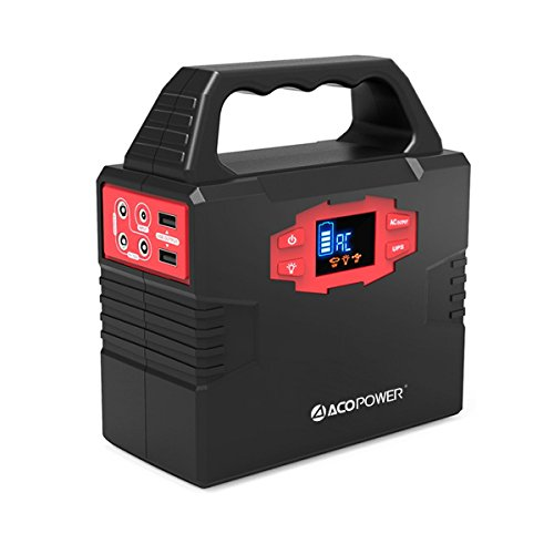 ACOPOWER 150Wh Portable Solar Generator Power Supply Energy Storage Lithium ion Battery Charged by Solar/AC Outlet/Cars with Dual AC Outlet, 3 DC Ports, 2 USB Ports (HY-S320)