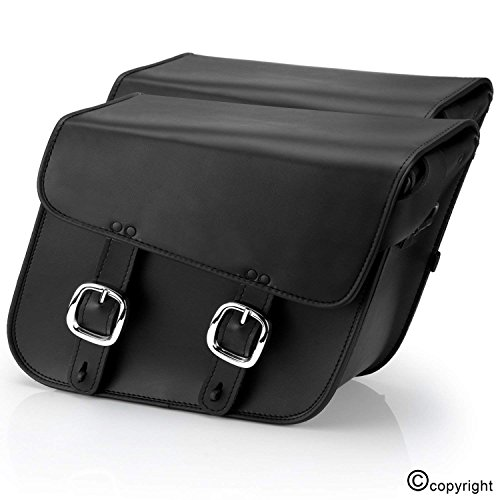Nomad USA Leather Slanted Medium Motorcycle Saddlebags w/ Quick Release Buckles