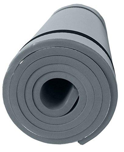SportVida Isomatte für Camping Zelt | Yogamatte rutschfeste Fitnessmatte für Yoga Pilates Gymnastik | Schaumstoff Eva mit Aluminiumbeschichtung | 180x50x1 cm (Grau)