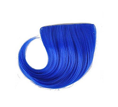 Colorful étape perruque, parti perruque, cheveux Bangs Perruques,Bleu