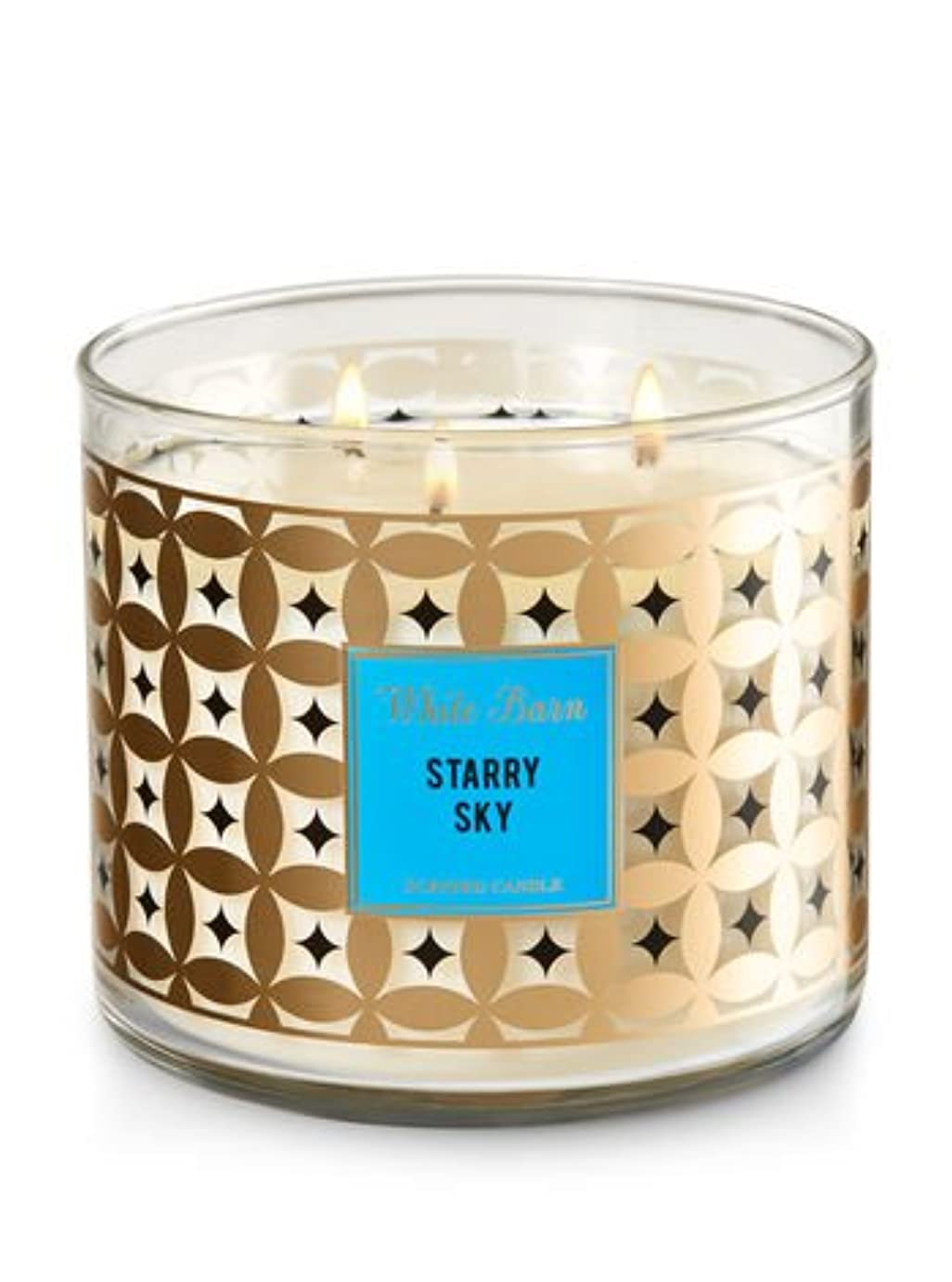 幽霊ただ苦ホワイトバーンBath & Body Works Candle 3?Wick 14.5オンスStarry Sky