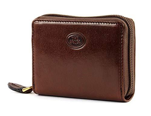 The Bridge cardholder zip leither brown