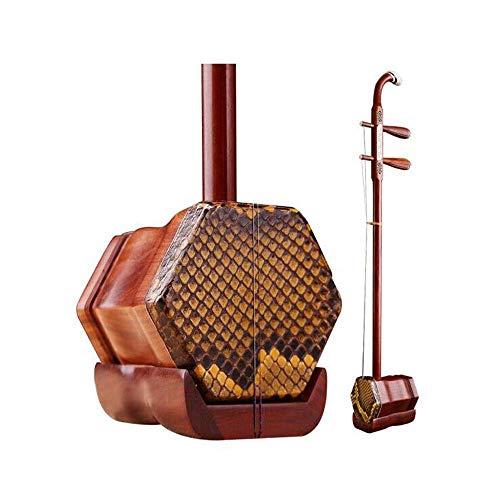 Erhu, Rotes Sandelholz Geschnitzte Erhu, handgemachte Python-Haut, Erwachsene Anfänger Praxis Erhu, Folk Musikinstrument (Farbe: Rotes Sandelholz) HUERDAIIT (Color : Red Sandalwood)