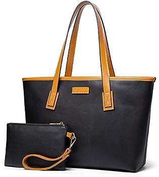 2-Piece KURGOOL Women's Fashion Tote Large Shoulder Bag