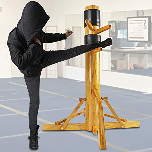 Flex HQ Adjustable Wing Chun Dummy Mook Yan Jong IP Man Training Target Wood Base