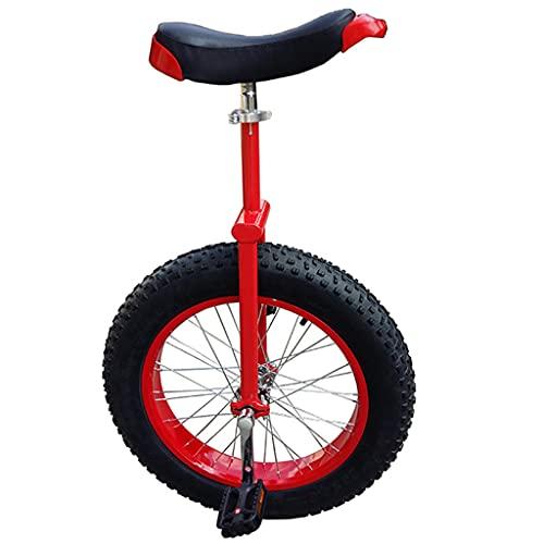 Monociclo Bicicletas Todoterreno Ciclismo Playa, con Pedales Antideslizantes Y Soportes Aluminio, Altura Ajustable, Bicicleta Deportiva Aire Libre,24 Inch Red