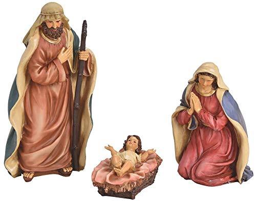 matches21 Krippenfiguren Christkind Josef & Maria - 3 Figuren für Krippen Weihnachtskrippen Stall Kunststoff 7-28 cm