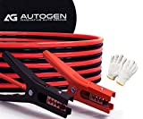 AUTOGEN Booster Cables, 4 Gauge 25 Feet Jumper Battery Cables with Storage Bag, 800A Heavy Duty Jumper Cables Booster Jump Start Cars, SUVs, Trucks (4AWG 25 FT)