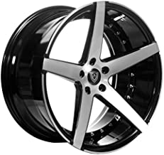 Marquee MQ 3226 – 20 Inch Rims – Set of 4 Black with Brush Face Wheels – Sports Racing Cars – Fits Challenger, Charger, Mustang, Camaro, Cadillac and More (20x9) – Rines Para Carros – Car Rim Wheel