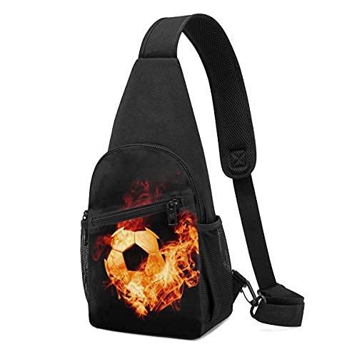 Burning Fire Ball Fútbol Sling Mochila bandolera bandolera