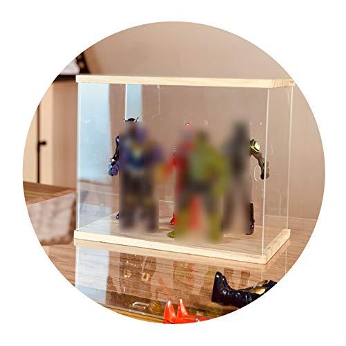 LM-Coat rack XINGLL Acrílico Vitrina Transparente, Caja De Diseño Prueba Polvo, Museo Oficina para Figuras Coleccionables, Modelo Protección Almacenamiento Coche Juguete, Apilable