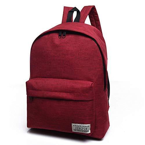 UKKD Backpack Unisex Canvas Schoolbag For Teenage Rucksack Teenagers Bookbag Backpack To School Bag Student Book Bag For Boys Girls,Red