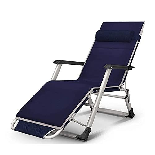 Terrassenfreizeit-Sonnenliegen Strandstühle, Schwerelosigkeitsstühle, klappbare Liegestühle, Liegestühle, Sonnenliegen, Superbreite 59 / 65CM, hergestellt aus Stahlrahmen und Textolin-Stoff