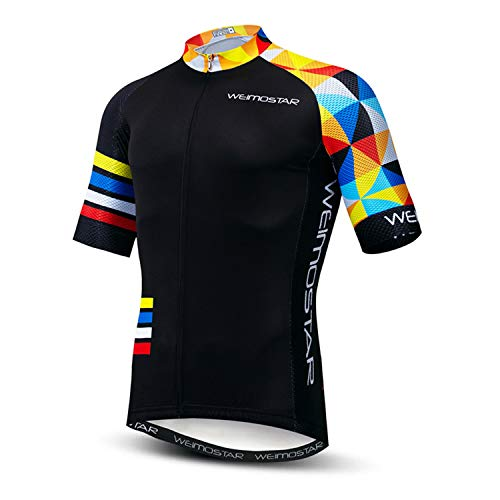 USA Cycling Jersey Men MTB Road Bike Shirt Summer Biking Tops Short Sleeve Cycle Clothes Sports Wear Breathable Quick Dry