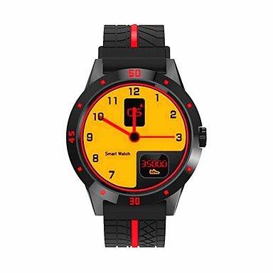 männer frau bluetooth 4,0 smart armband / smartwatch schrittzähler übungsaufzeichnung herzfrequenz monitor bluetooth uhr handy für ios , black
