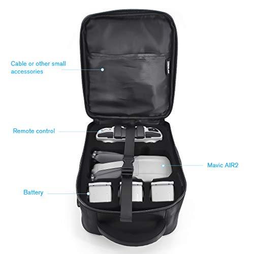 CUYU Umhängetasche für DJI Mavic Air 2, Drohne Tragetasche für DJI Mavic Air 2, Passend für 3 Drohnenbatterien, Ladegerät-Netzteil und Fernbedienung