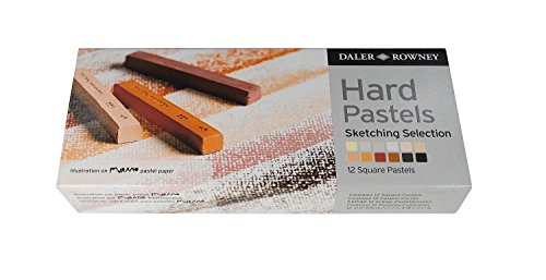 Daler Rowney - 154902012 - Kit De Loisirs Créatifs - Ensemble De 12 Pastels Durs - Esquisse